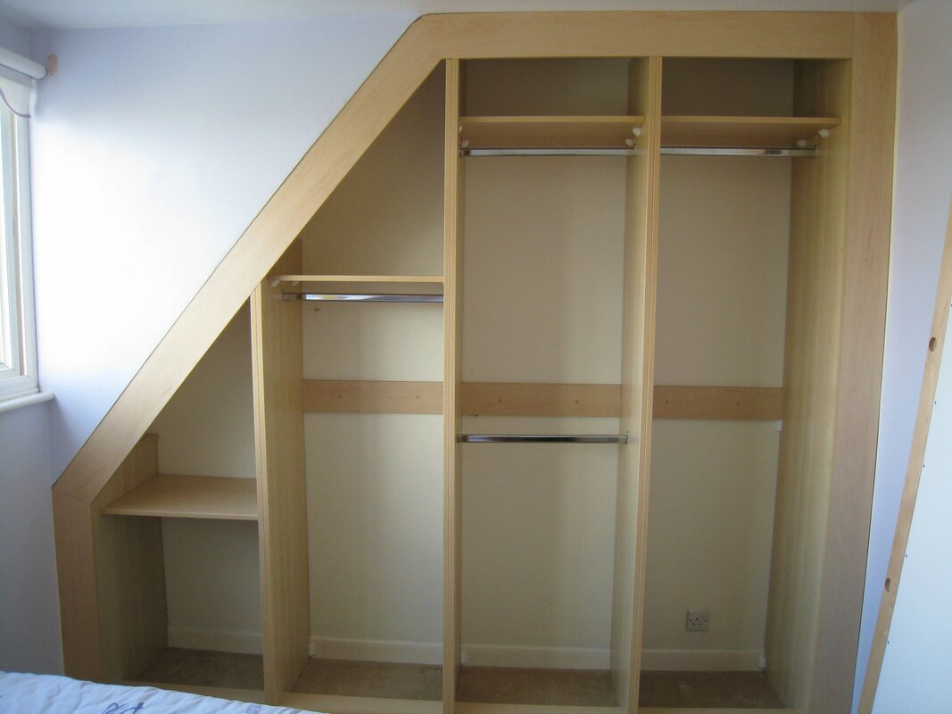 Stage 2 of built in wardrobe - frame in place